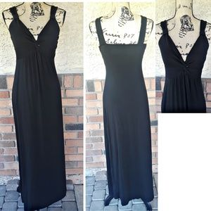 spence plain black sun dress